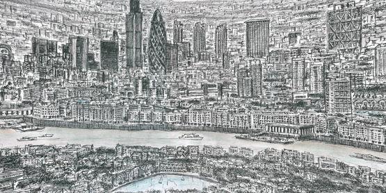 London Skyline in 360