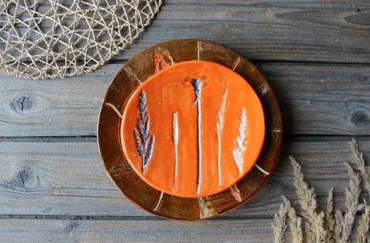 "Парные тарелки ""Летние травы "" №1"