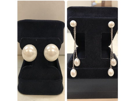 Sterling Silver Honora Freshwater Pearl Earrings plus Sterling Silver Freshwater Pearl Earrings