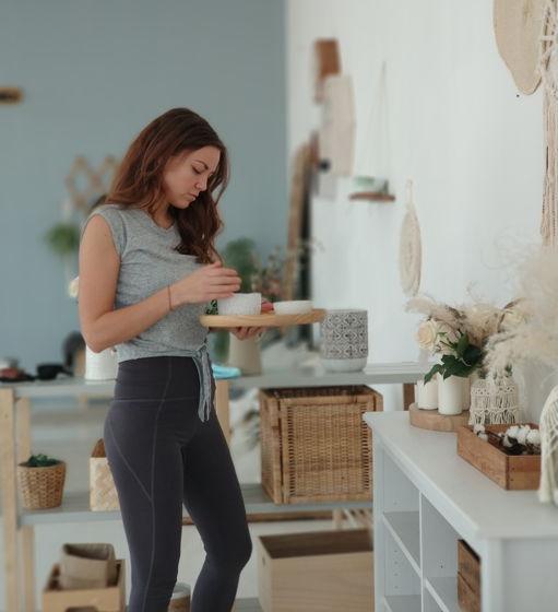 Легинсы из хлопка Yoga Girl soft grey