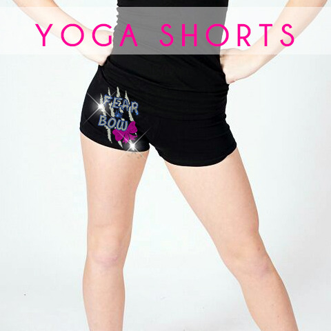 glitterstarz custom bling basics yoga shorts black stretchy comfy for cheer dance