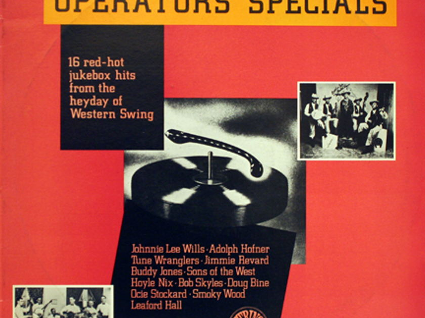 Western Swing bands: - Operators' Specials Old Jukebox Hits 1930's