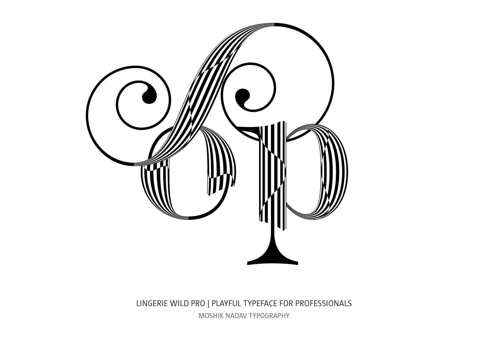 op ligature designed by moshik Nadav Fashion Typography NYC based design studio
