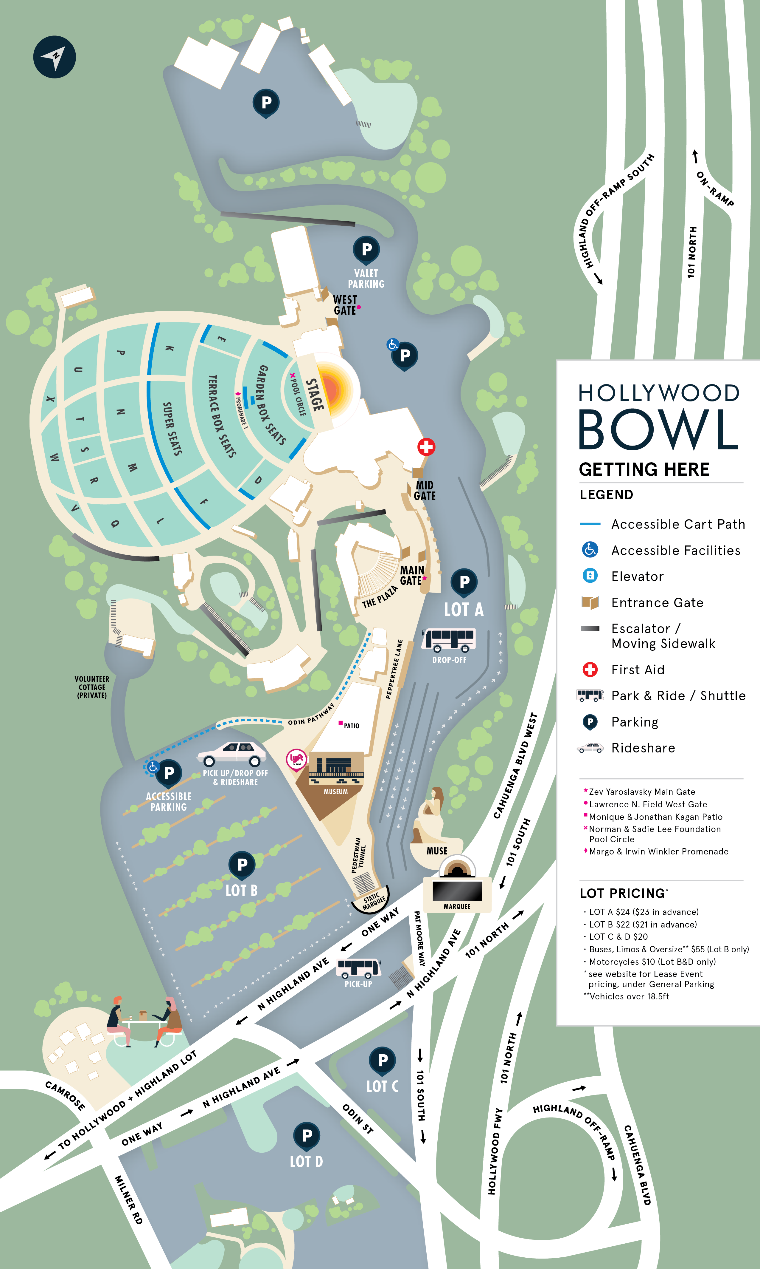Hollywood Bowl Grounds Map | Hollywood Bowl on westwood la map, westwood kansas map, westwood ma zoning map, westwood map google maps, westwood map of grounds, westwood ucla map,