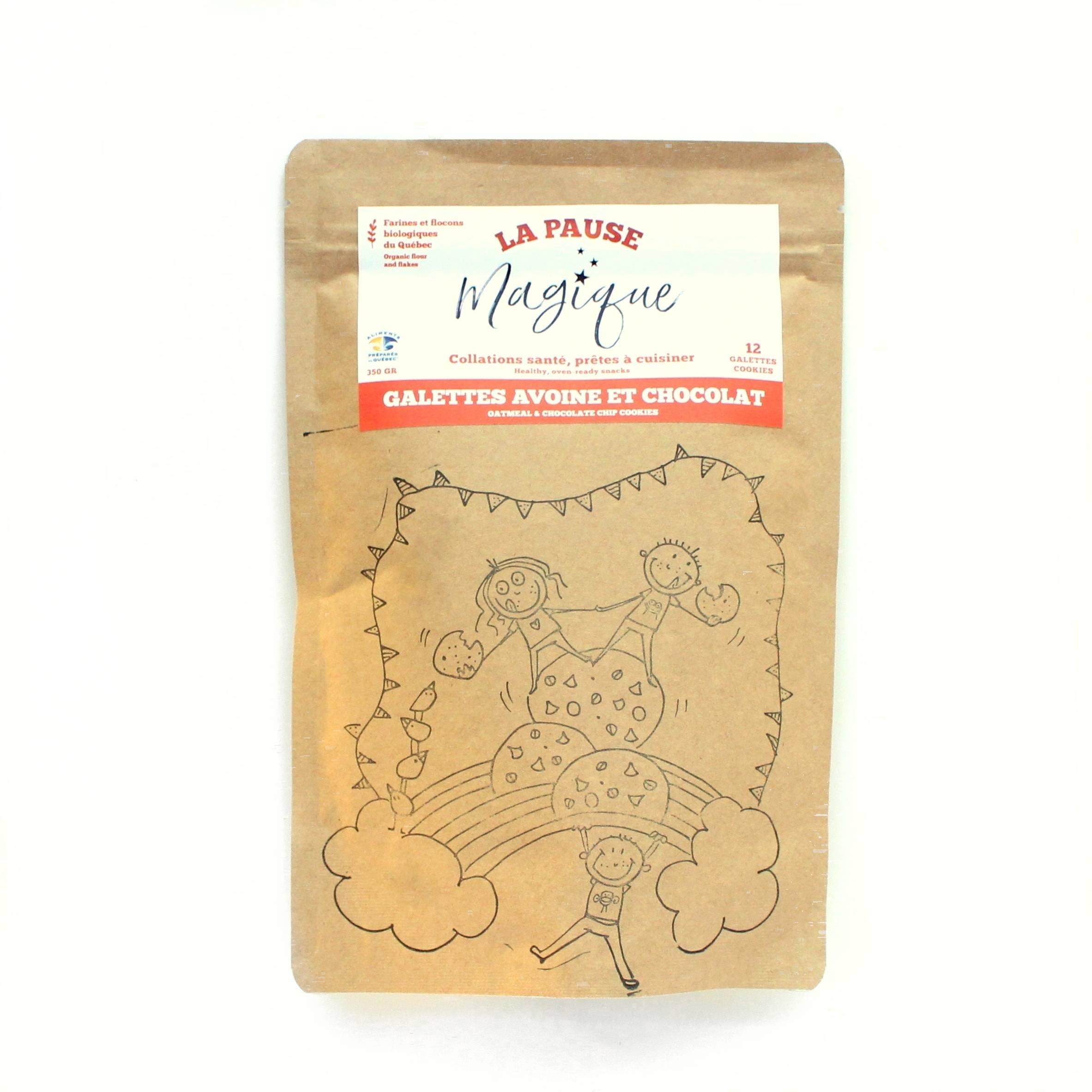 pause magique galettes avoine pépites de chocolat