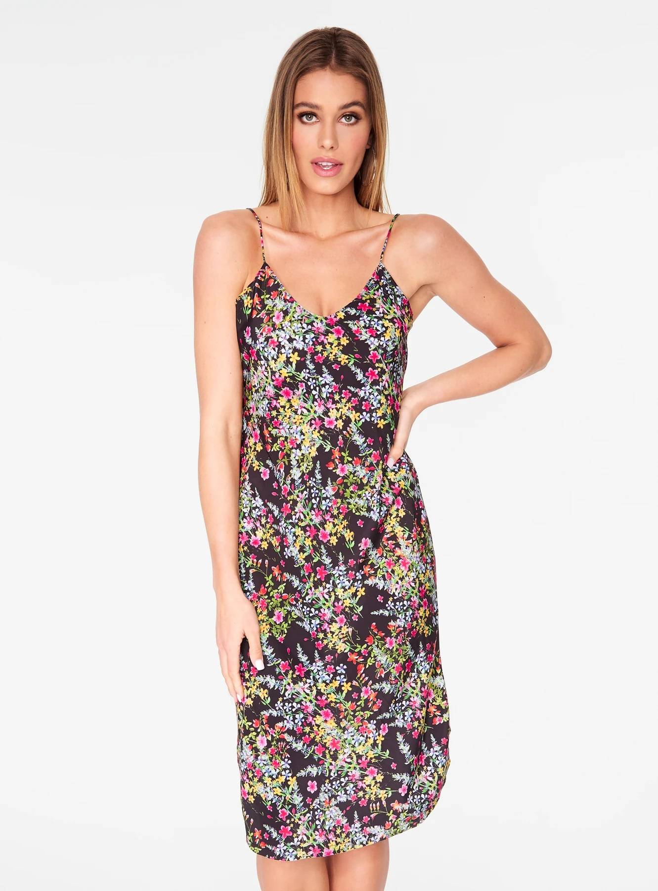 Floral Strappy Slip Dress