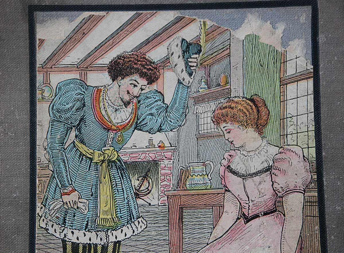 1900年発行「シンデレラ」 アフロヘアーの王子とシンデレラ