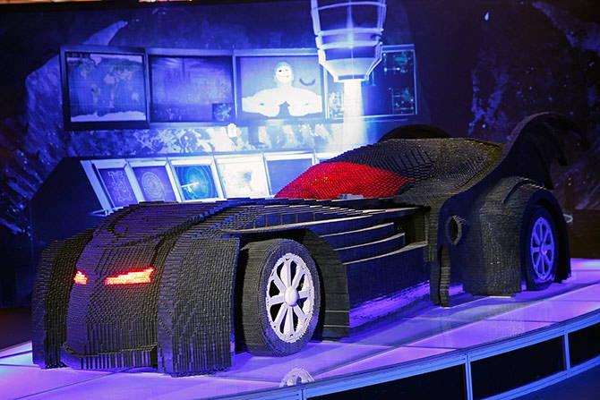 The largest LEGO brick batmobile sculpture