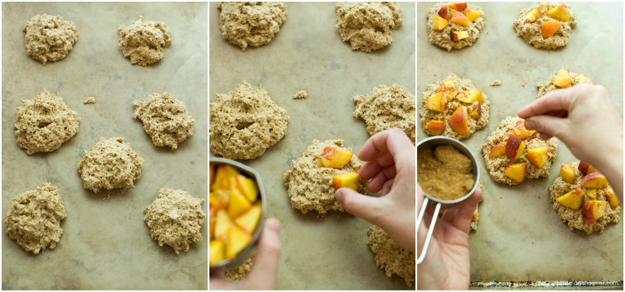 Peach-ginger oat scones {vegan, gluten-free} // www.brigidgallagher.com // #bridgideats