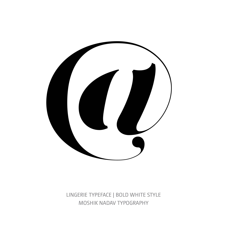 Lingerie Typeface Bold White @