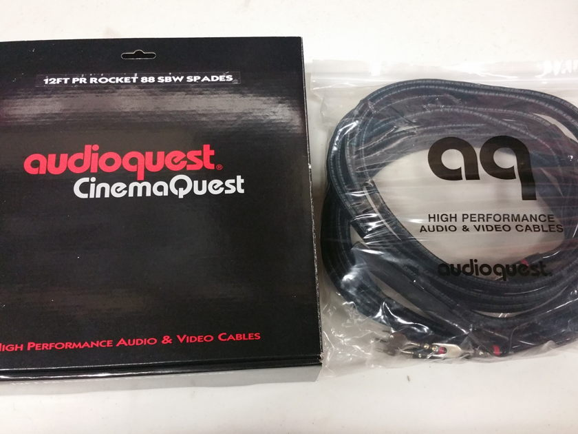 Audioquest Rocket 88 12 ft biwire speaker cables