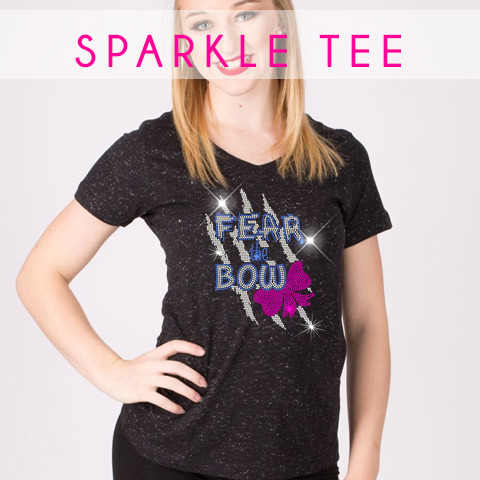 glitterstarz sparkle tee custom bling teamwear rhinestone for cheerleading