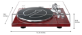 dimensions of 1byone turntable H005