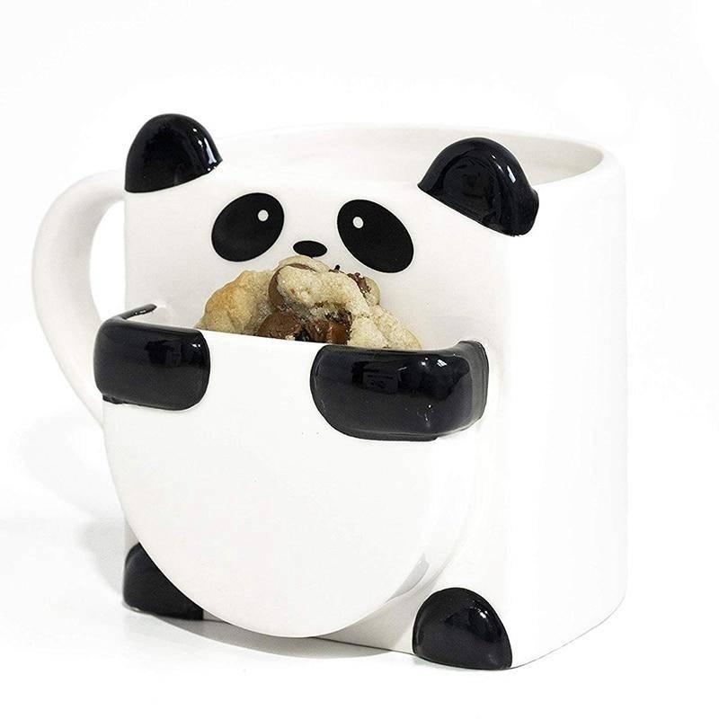 mug panda recipient cookie pour petit dejeuner
