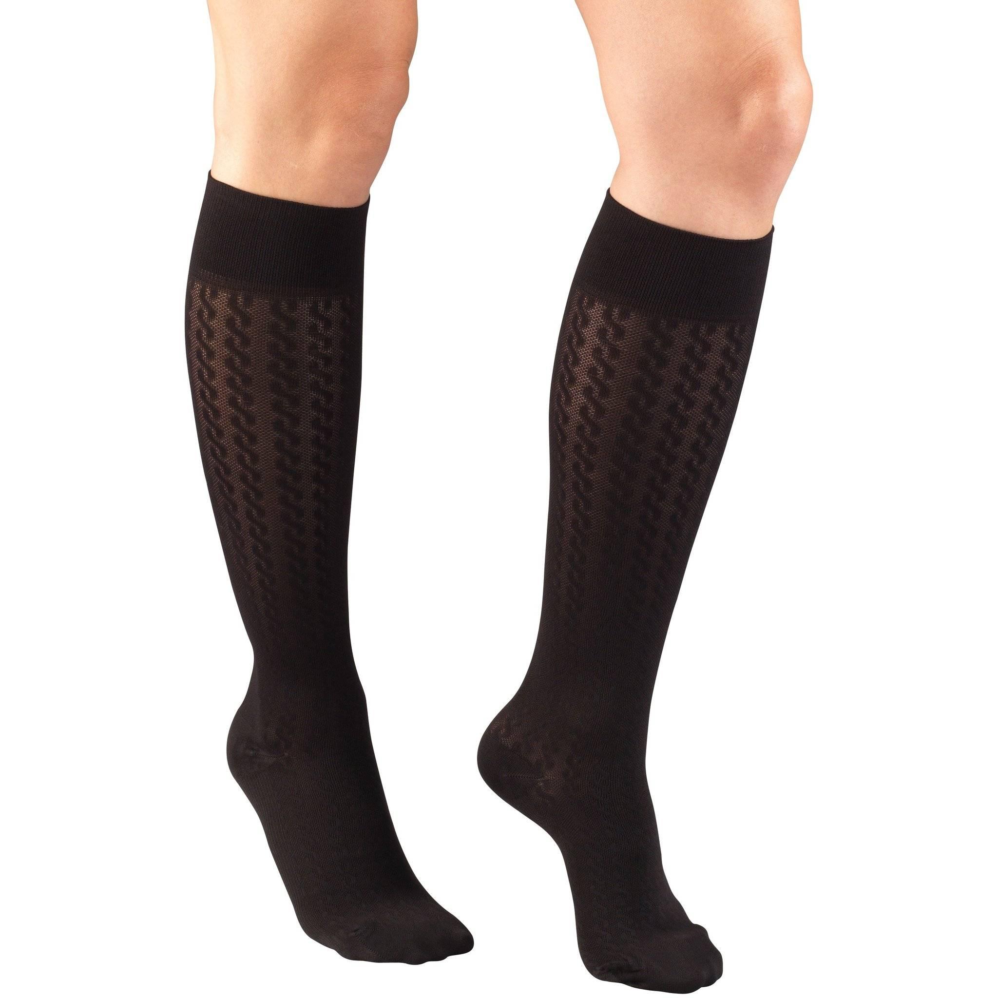 Ladies' Knee High Cable Pattern Socks