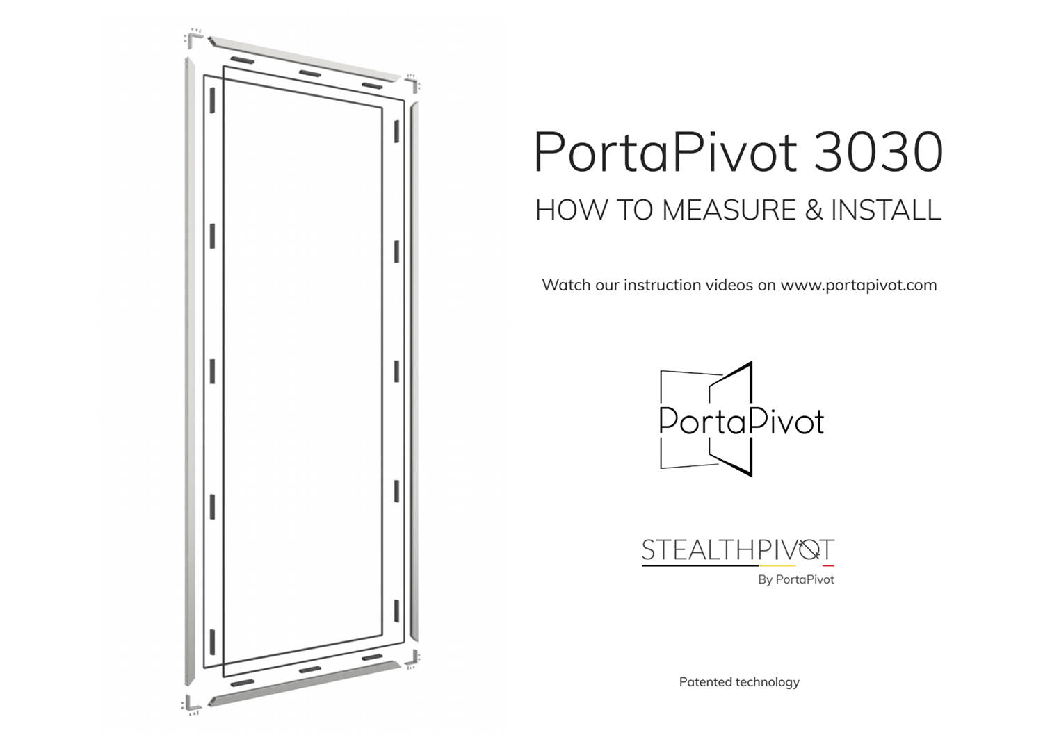 Portapivot 3030 how to measure and install manual