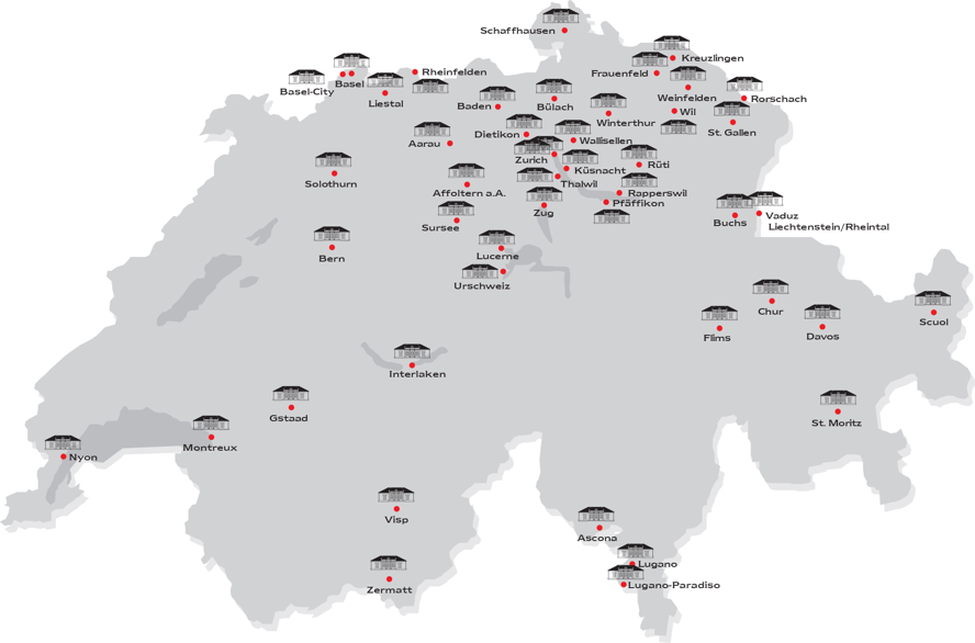 Zug - Map Engel & Völkers Locations Switzerland