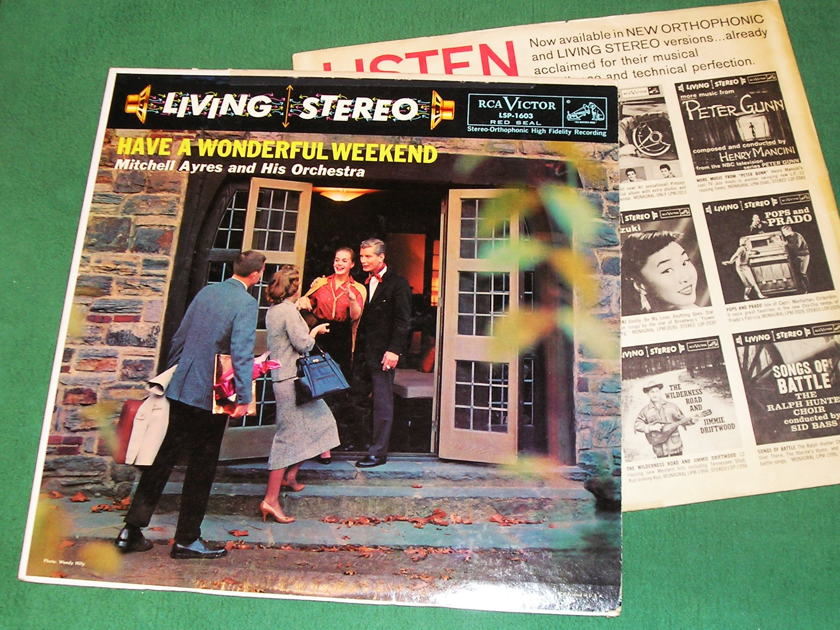 """MITCHELL AYERS  - HAVE A WONDERFUL WEEKEND -  - RCA LIVING STEREO BLACK DOG - 1S/A1 1S/B1 """"I"""" PRESS  ** NM 9/10 **"""