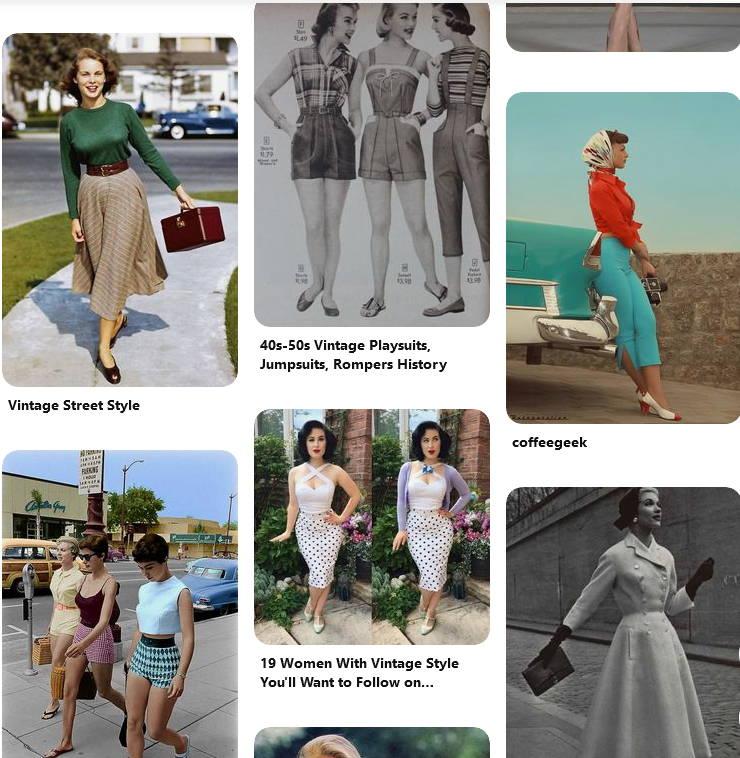 Udsnit af vintage billeder fra pinterest