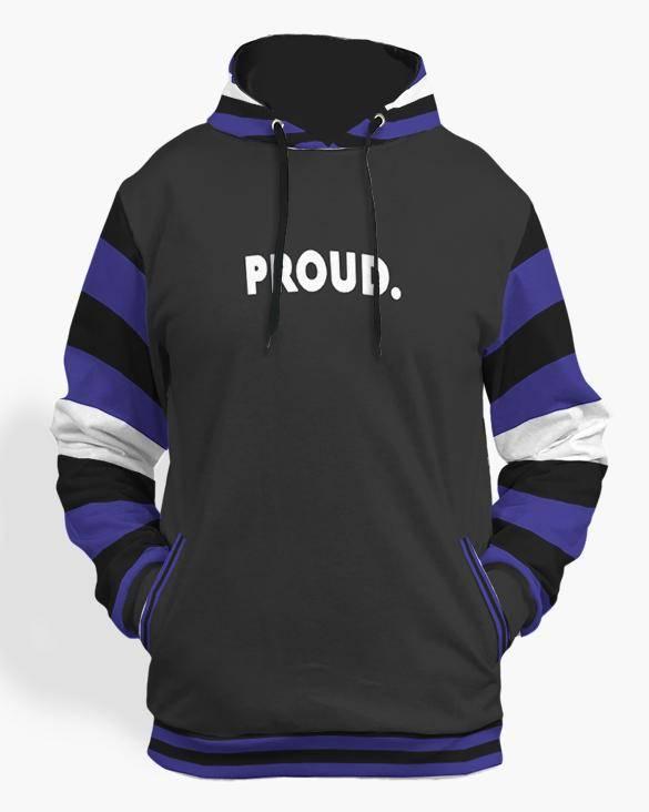 leather pride flag  hoodie black