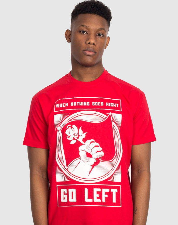 Go left socialist t-shirt