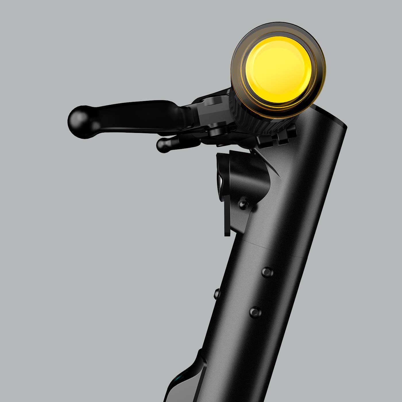 Okai-electric-scooter-es400b-handlebar-indicators-mobile