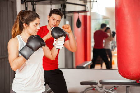 High-intensity boxing training, 25 min