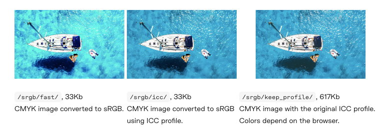Image color management example