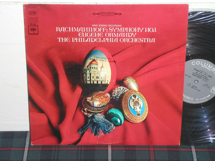 Ormandy/TPO - Rachmaninoff No.1 Columbia <360> labels from 60's