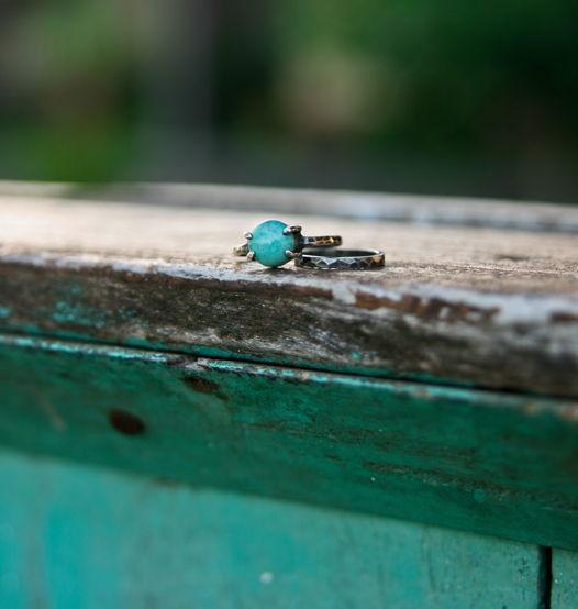 Кольцо с бирюзой
