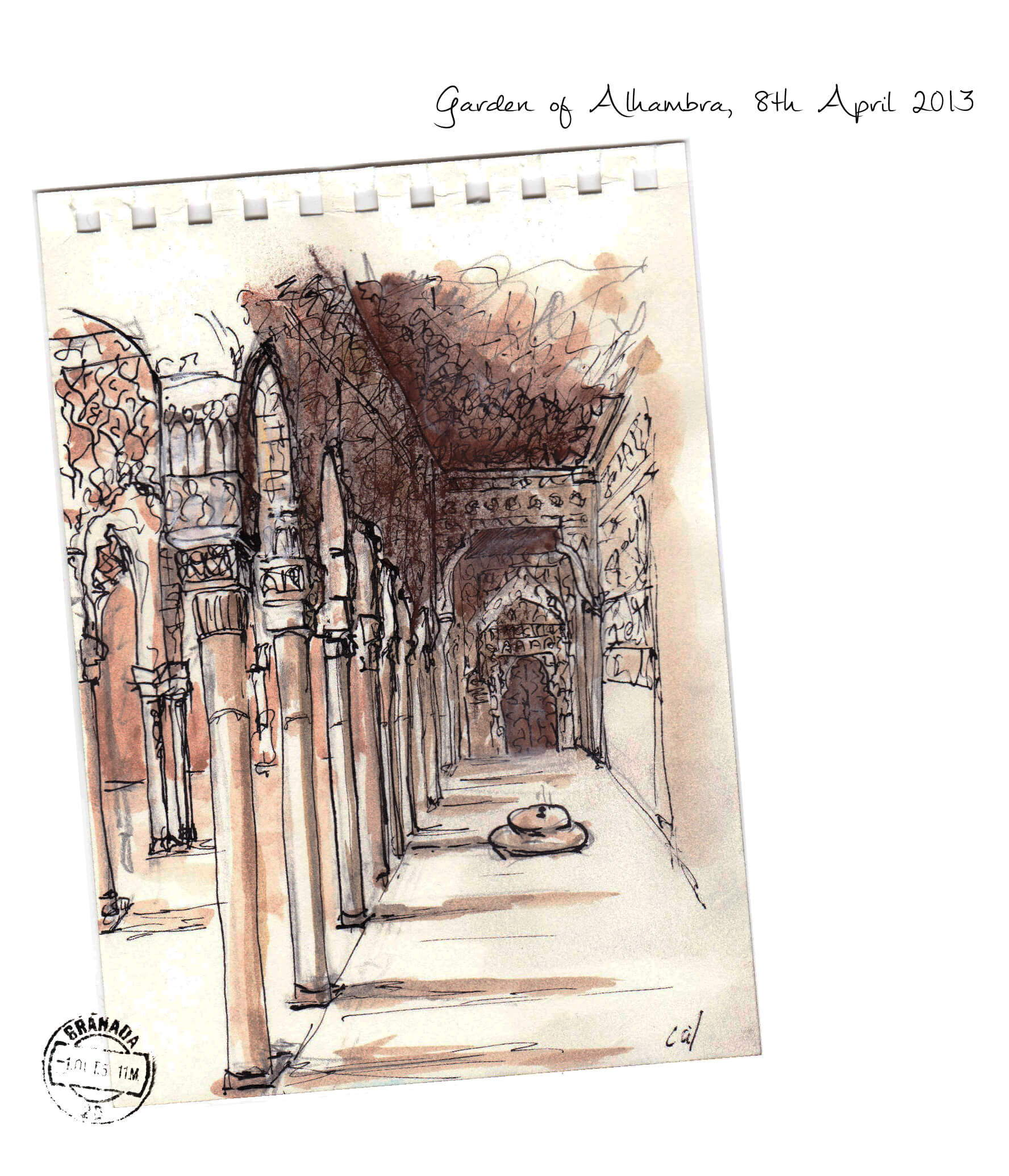 Iconic Amber Oud Inspiration behind this oud spicy amber unisex perfume, the Garden of Alhambra in Grenade Spain