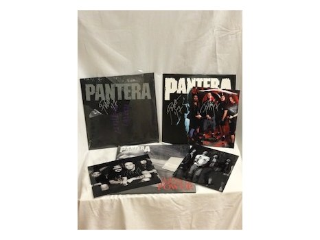 Pantera Signed Vinyls, Photographs and CDs