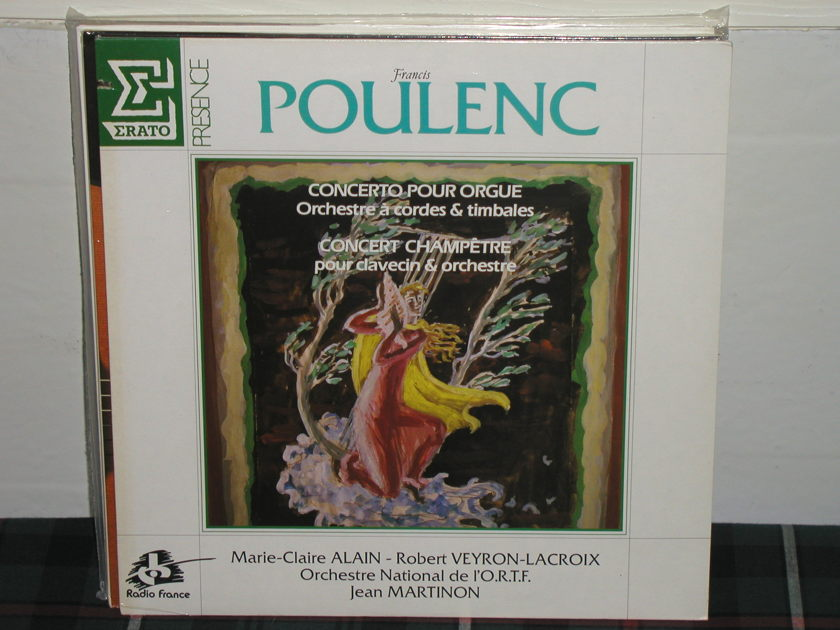 Martinon/ON d l'ORTF - Poulenc Concertos Erato/France SEALED