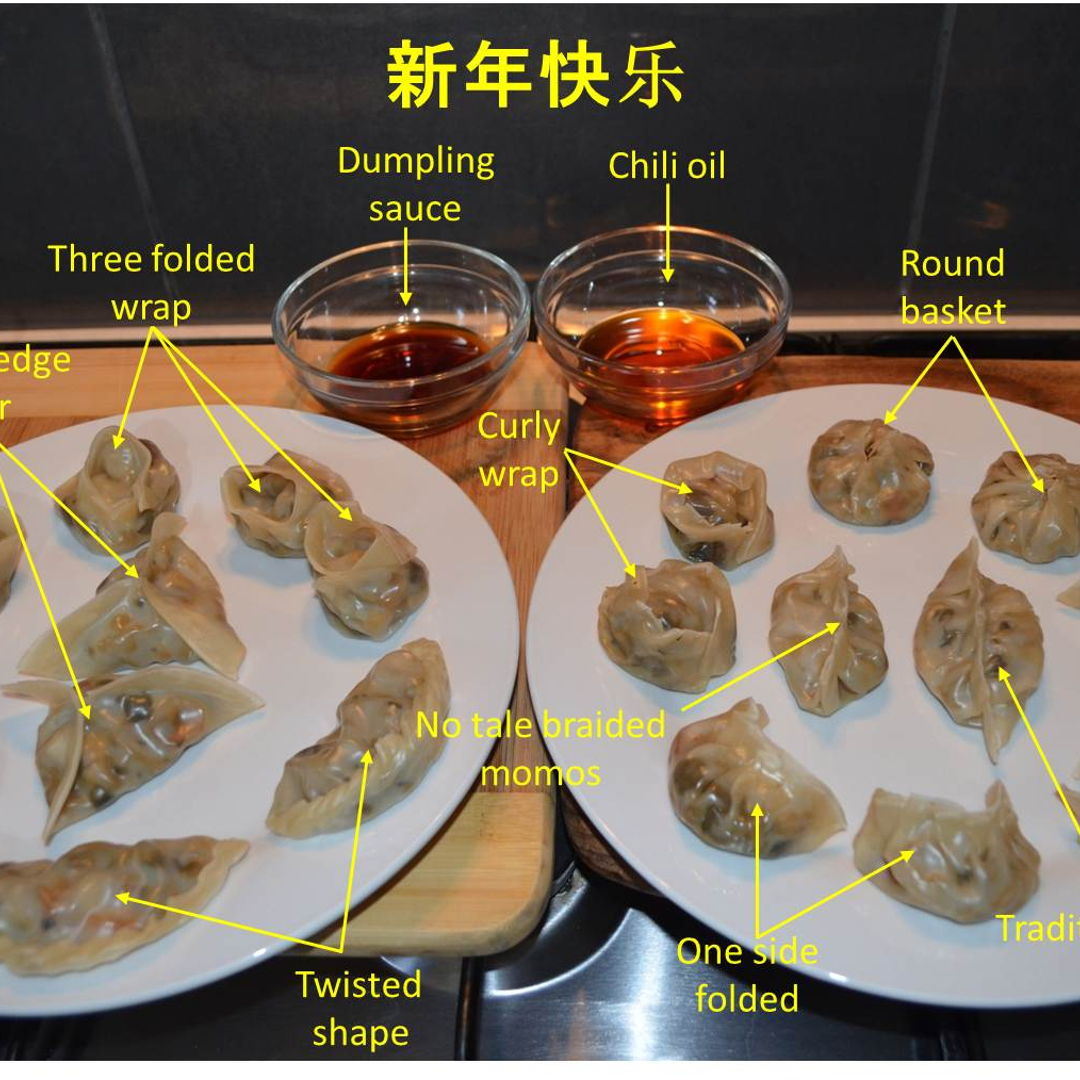 Date: 25 Jan 2020 (Sat) 65th Main: Vegetable Dumplings [195] [139.6%] [Score: 9.0]  This is a Vegetable Dumpling dish with various styles of wrapping.