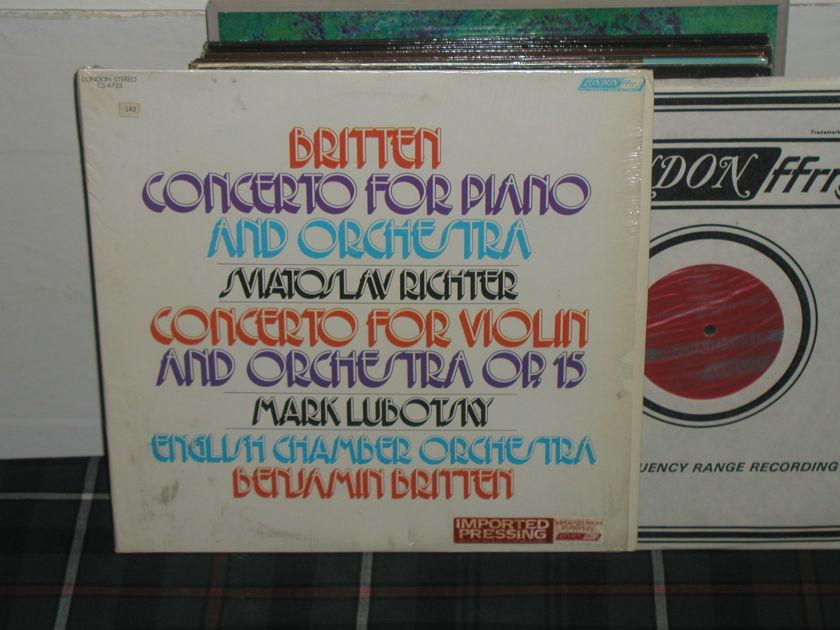 Britten/Richter/ECO - Britten Ctos London ffrr UK Decca press