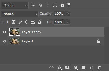 duplicate a layer so your original image is safe