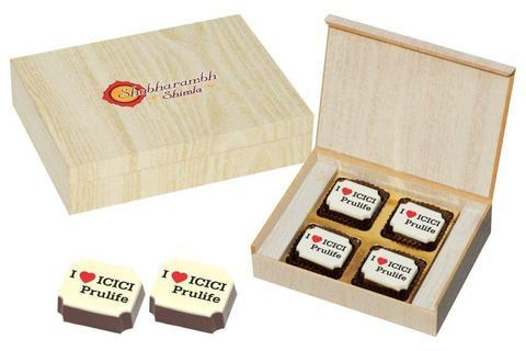 Corporate Giveaways - 4 Chocolate Box - Printed Candies (10 Boxes)