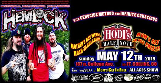 Hemlock's Mother's Day Mosh-tacular feat. Hemlock w/ Genocide Method and Infinite Conscious at Hodi's Half Note