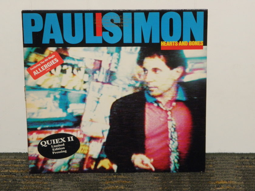 "Paul Simon - ""Hearts And Bones"" Gold Promo Stamp QUIEX II pressing WB 23942-1"