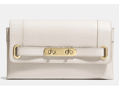 Coach Swagger Wallet in Pebbled Leather