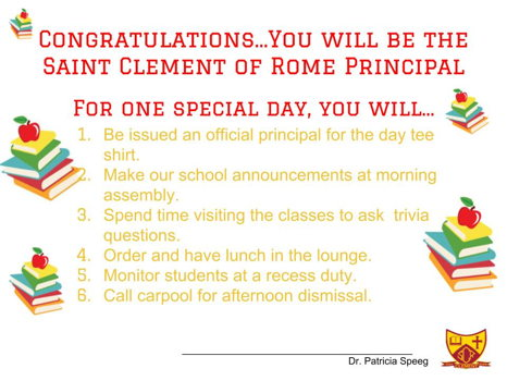 Principal- Principal For the Day
