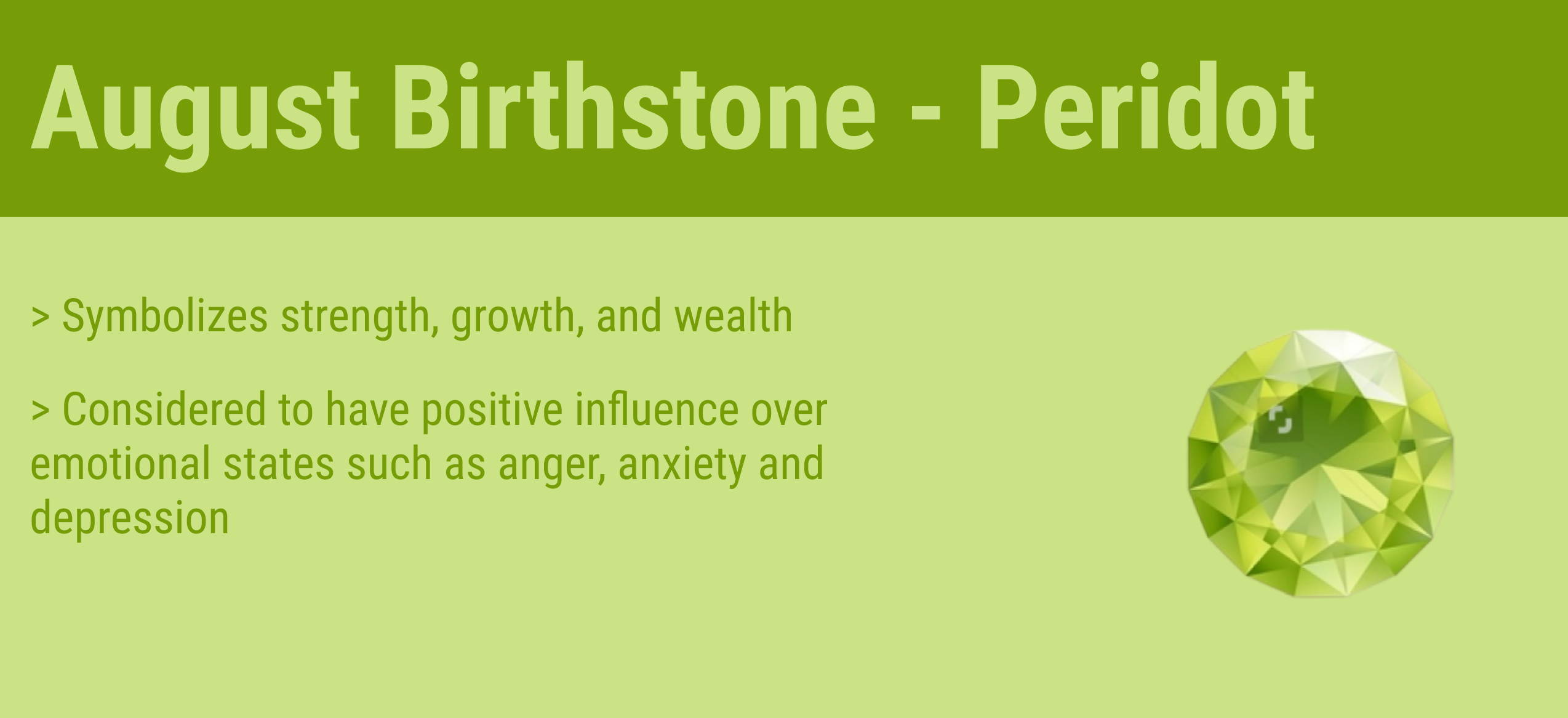 august birthstone quick facts