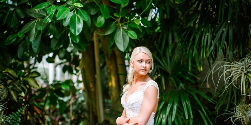 A Glamorous Garden Bridal Session