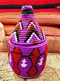 Berberbasket mit farbugen Rauten