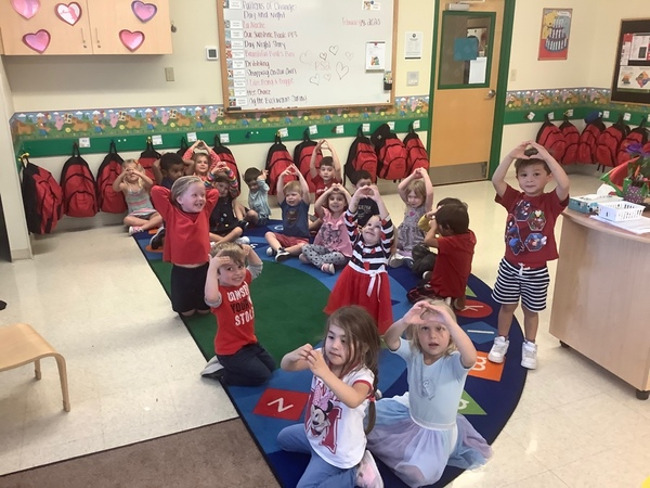 Happy Valentine's Day from our Preschoolers at our Lakewood Ranch Town Center campus!!!!