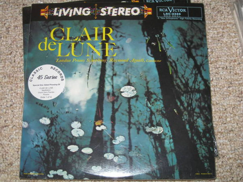 Clair De Lune - Raymond agoult 45 rpm single sided lps oop