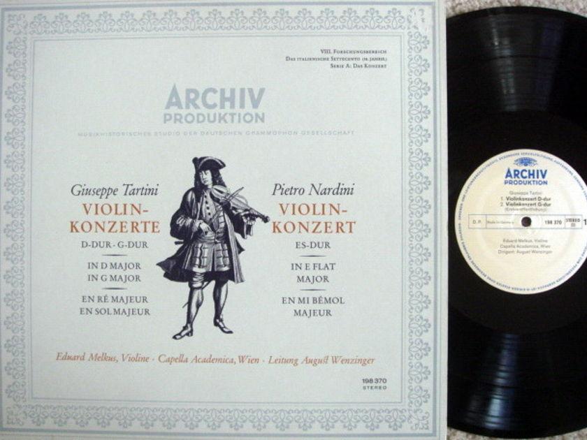 Archiv / MELKUS, - Tartini-Nardini Violin Concertos,  MINT!