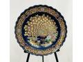 Vintage Japanese Peacock Platter/Oriental Decor,