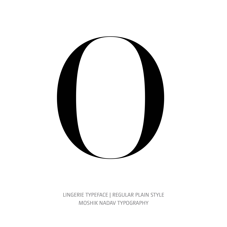 Lingerie Typeface Regular Plain 0