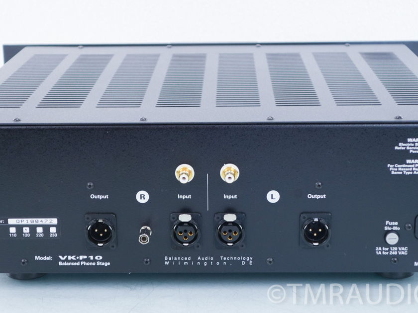 Balanced Audio Technology  BAT VK-P10SE Tube Phono Stage;  Super-Pak